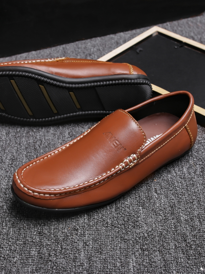 Giày mọi da màu bò g76 - 2