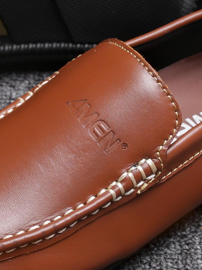 Giày mọi da màu bò g76 - 1
