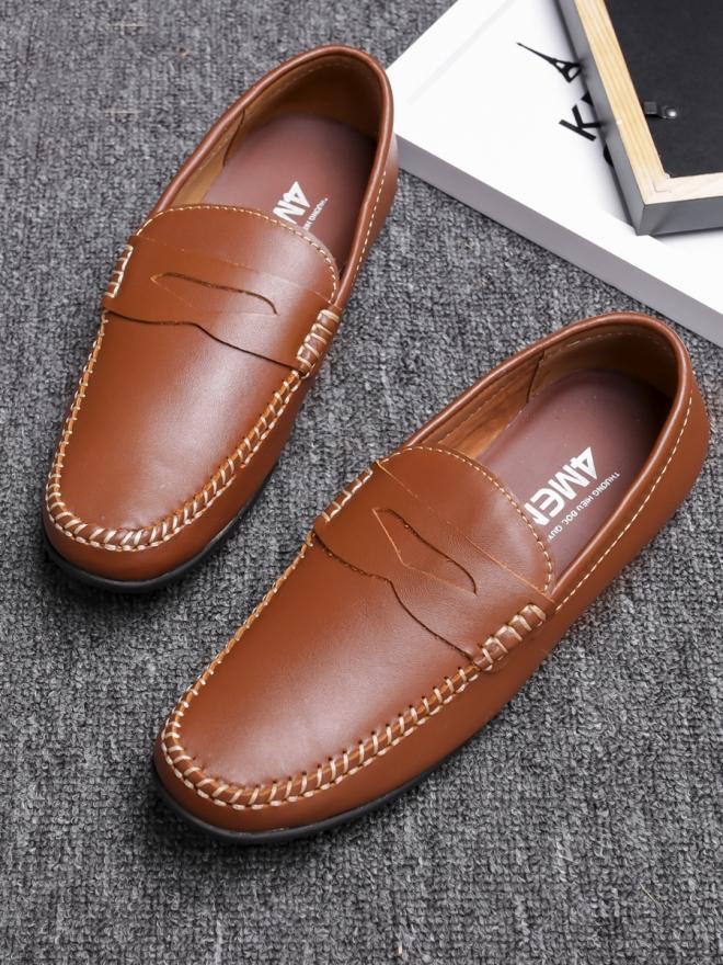 Giày mọi da màu bò g77 - 3