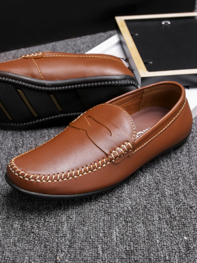 Giày mọi da màu bò g77 - 2