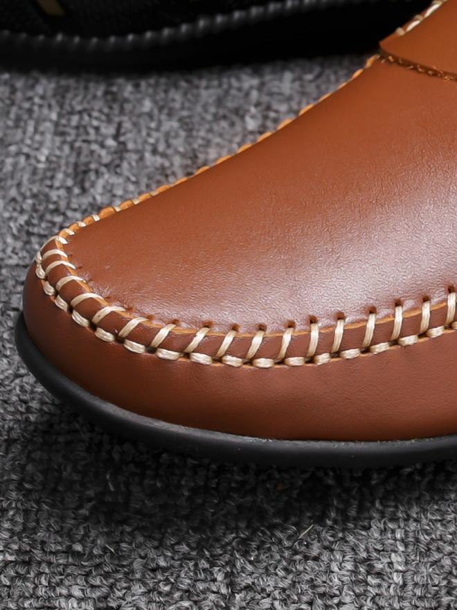 Giày mọi da màu bò g77 - 1