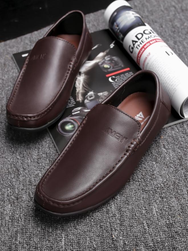 Giày mọi da nâu g76 - 3
