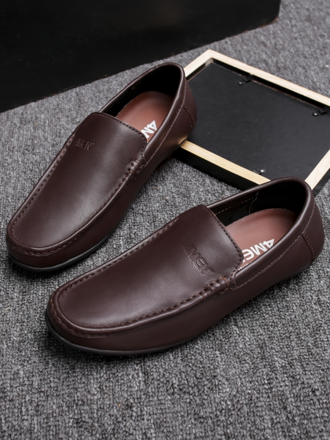 Giày mọi da nâu g76 - 2