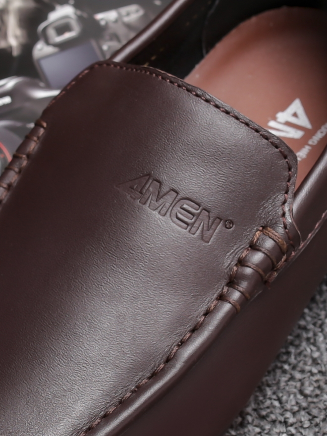Giày mọi da nâu g76 - 1