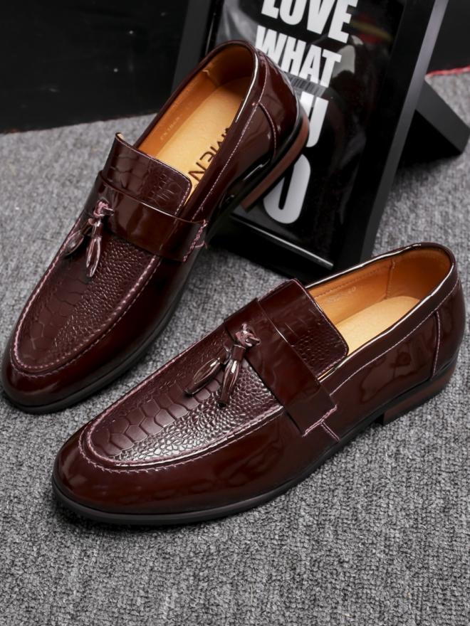 Giày mọi da nâu g79 - 3