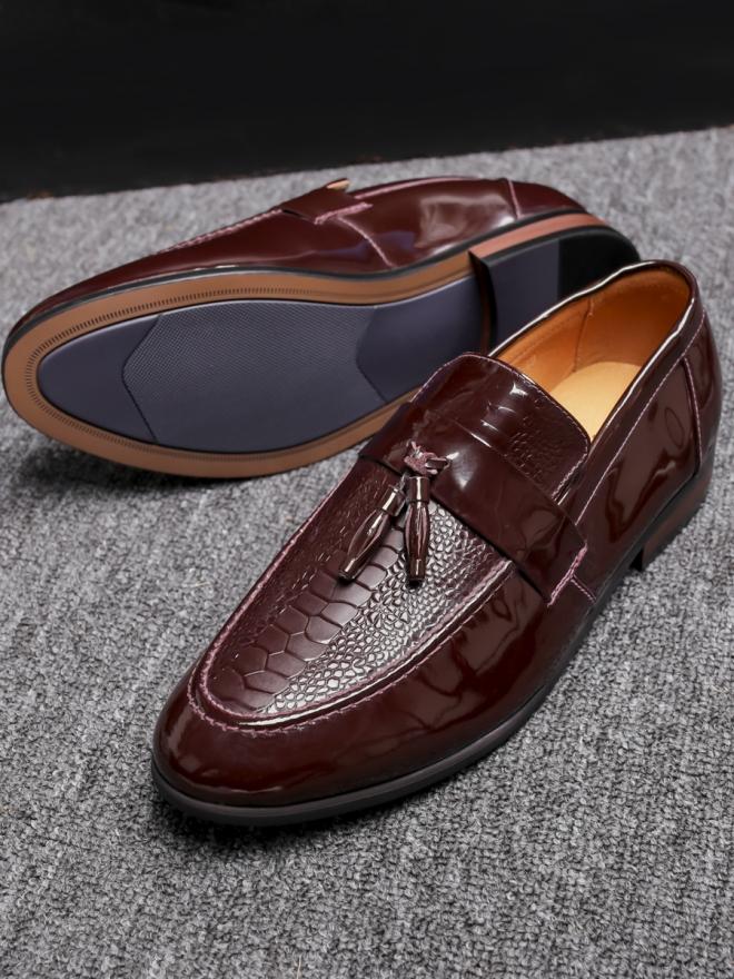 Giày mọi da nâu g79 - 2