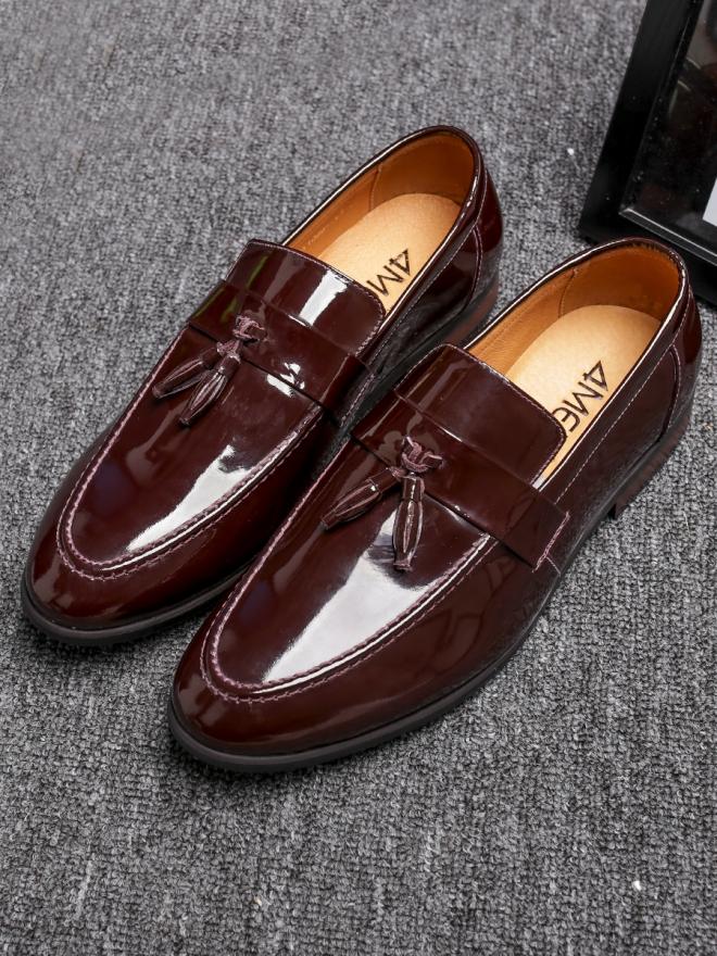 Giày mọi da nâu g81 - 2