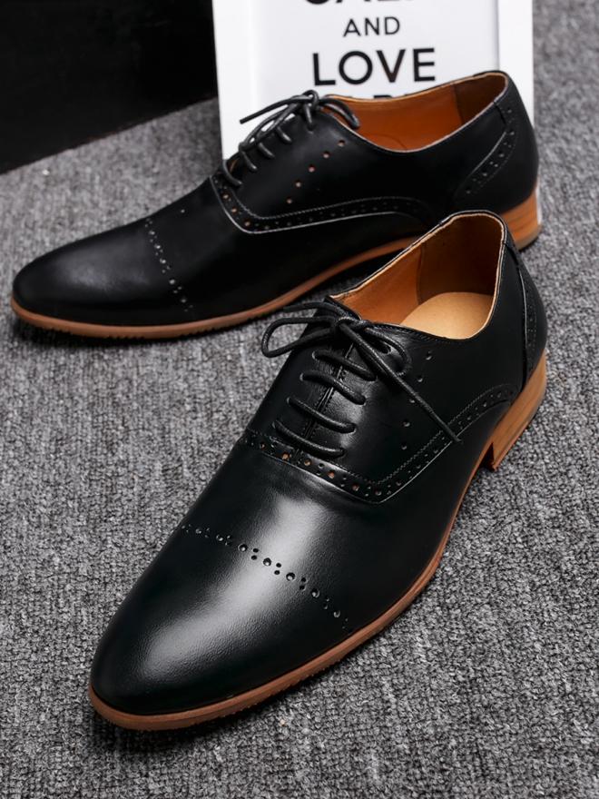 Giày tây da đen g84 - 3