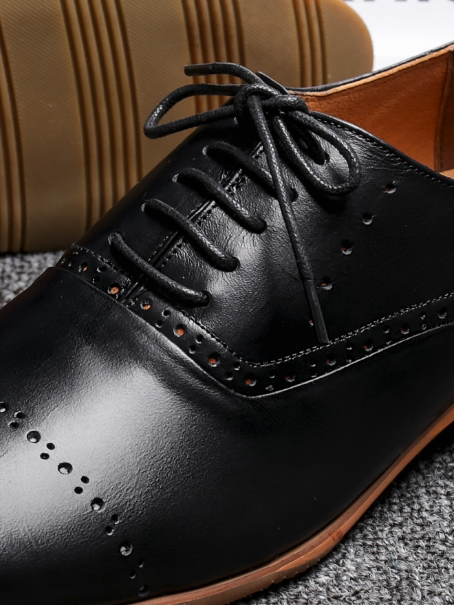Giày tây da đen g84 - 1