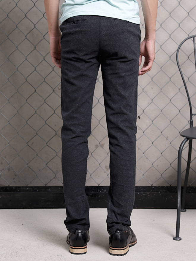 Quần kaki vải bố đen qk154 - 2