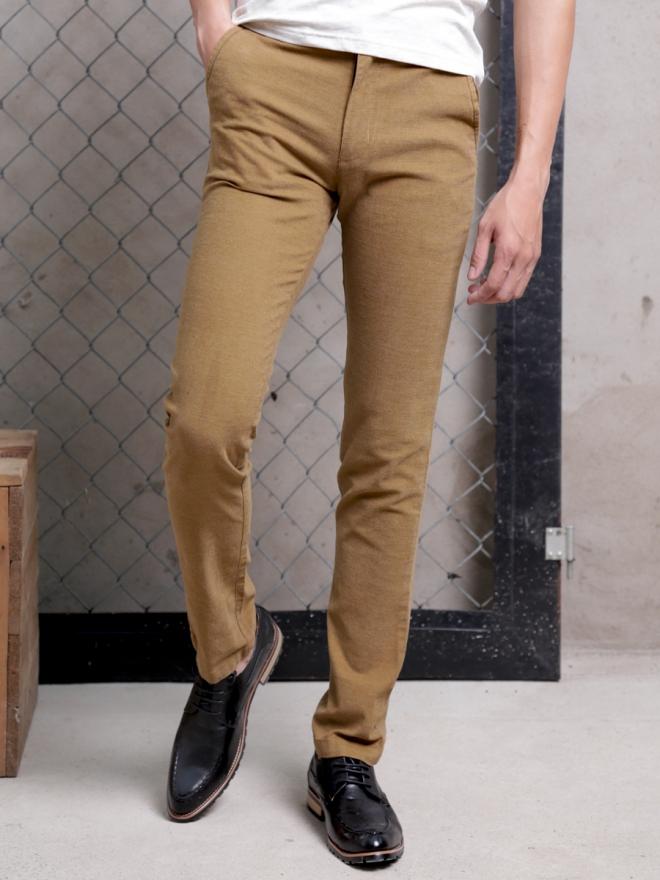 Quần kaki vải bố màu bò qk154 - 1