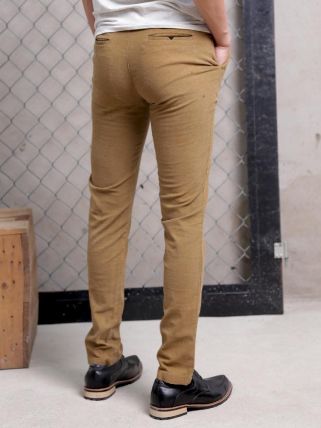 Quần kaki vải bố màu bò qk154 - 5