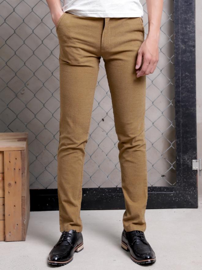 Quần kaki vải bố màu bò qk154 - 2