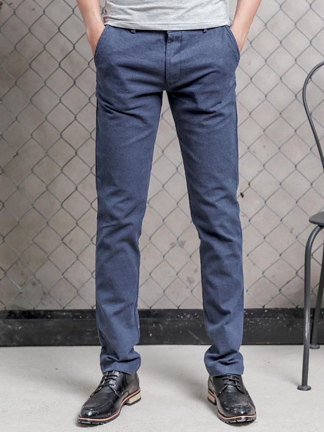 Quần kaki vải bố xanh biển đậm qk154 - 1