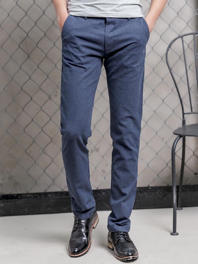 Quần kaki vải bố xanh biển đậm qk154 - 3