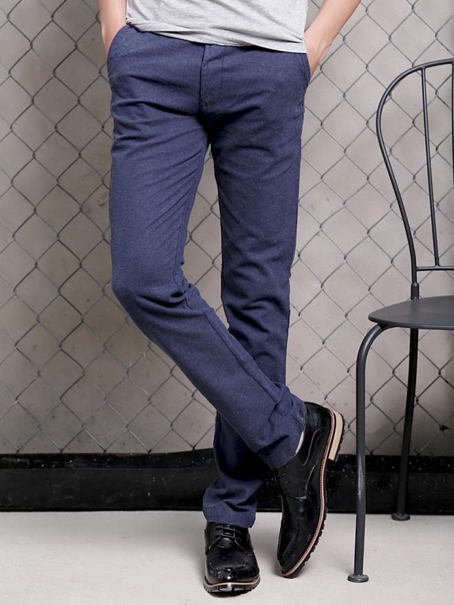 Quần kaki vải bố xanh đen qk154 - 1