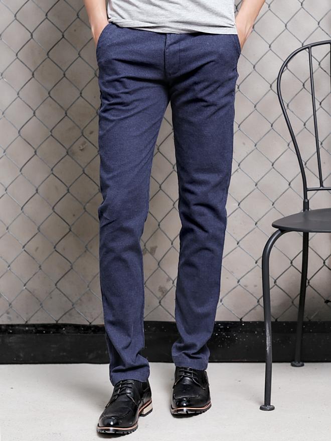 Quần kaki vải bố xanh đen qk154 - 3