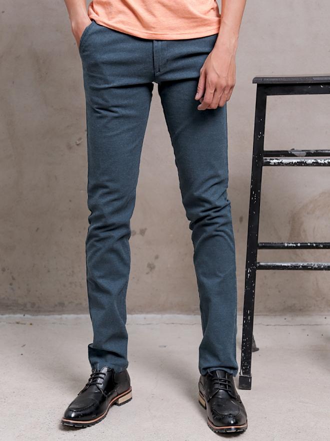 Quần kaki vải bố xanh rêu đậm qk154 - 1