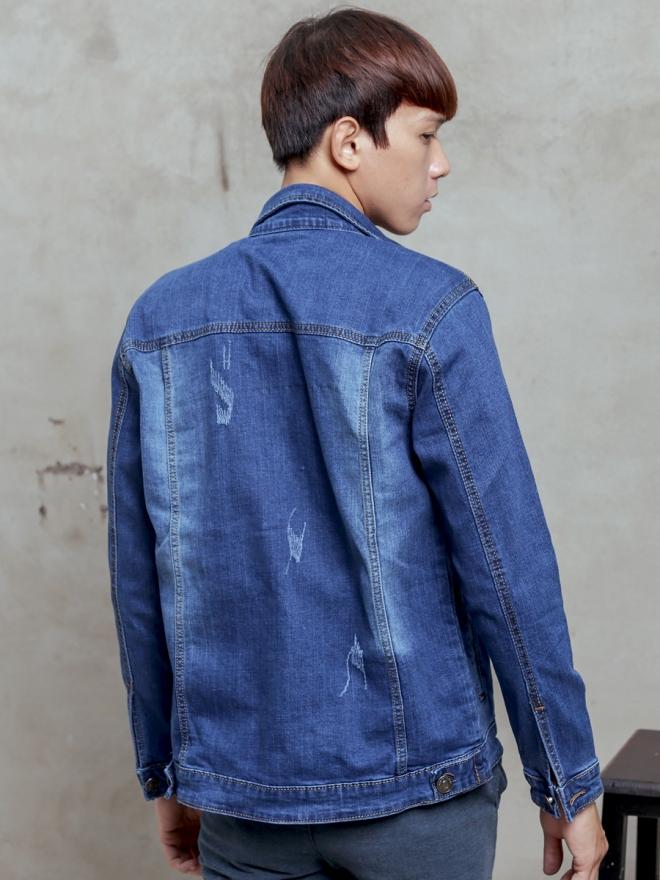 Áo khoác jean xanh ak186 - 2