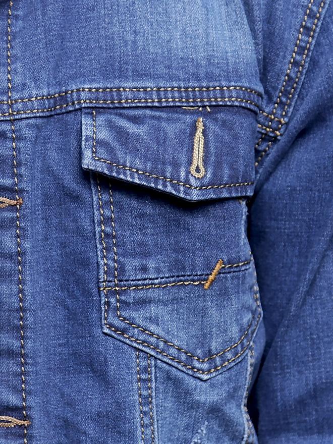 Áo khoác jean xanh ak186 - 3