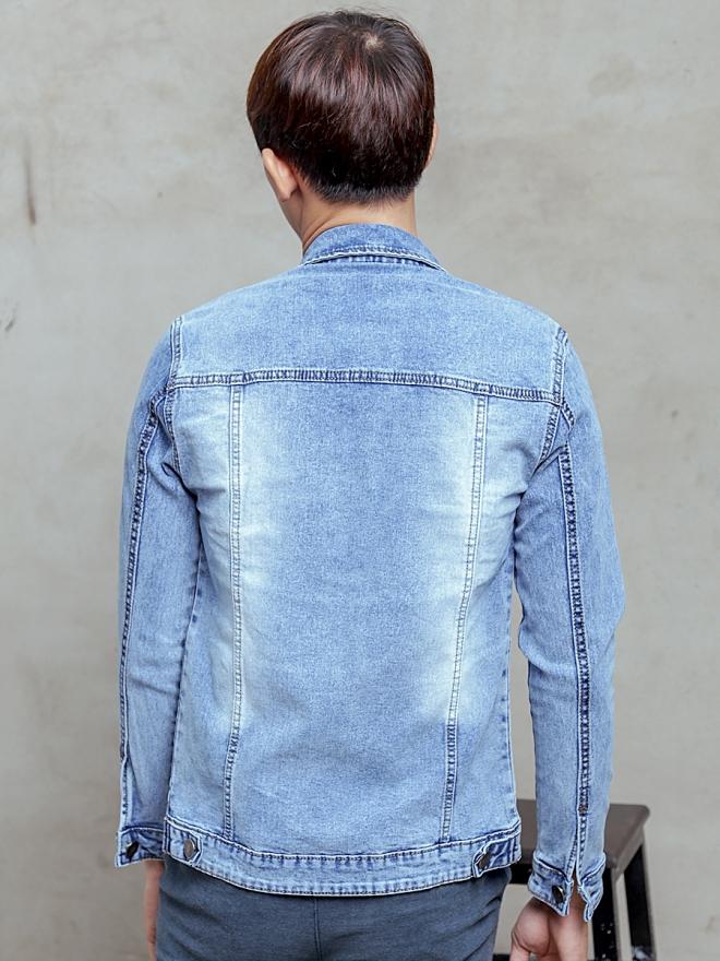 Áo khoác jean xanh ak187 - 2