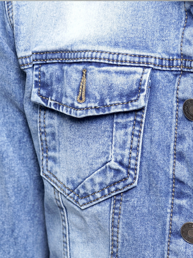 Áo khoác jean xanh ak187 - 3
