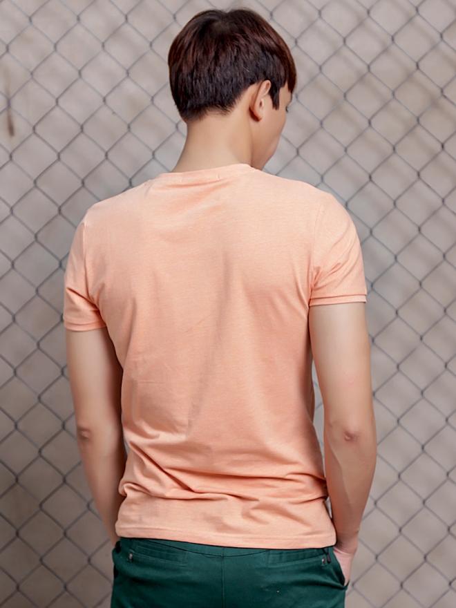 Áo thun cổ tròn cam at600 - 2