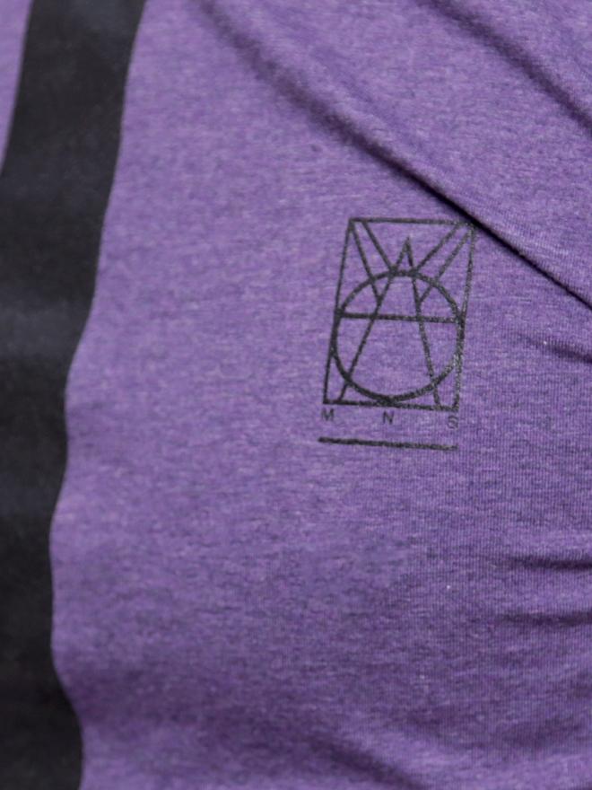 Áo thun cổ tròn tím at600 - 3