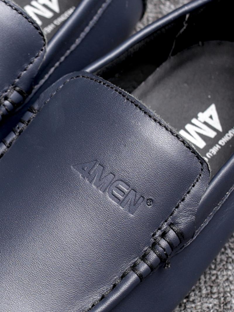 Giày mọi da xanh đen g76 - 2