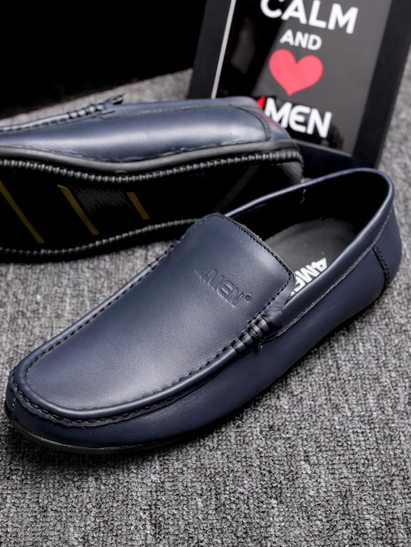 Giày mọi da xanh đen g76 - 4