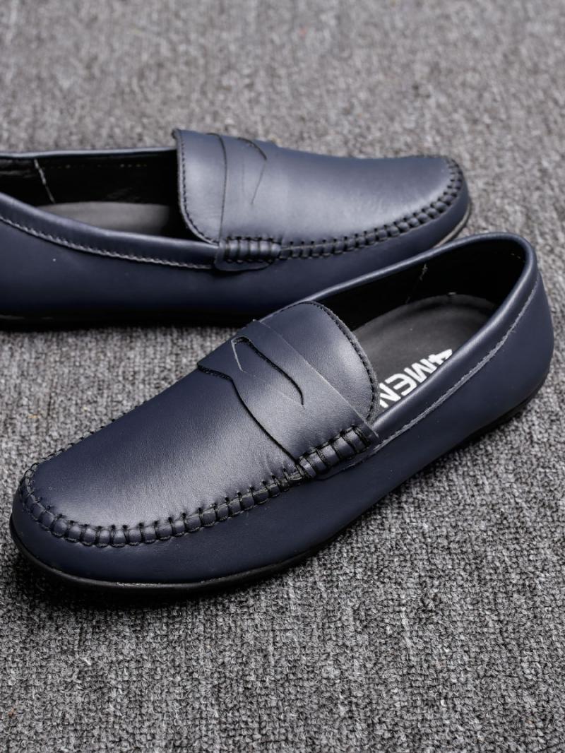 Giày mọi da xanh đen g77 - 1