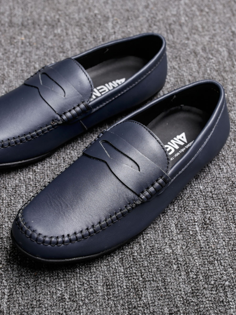 Giày mọi da xanh đen g77 - 3