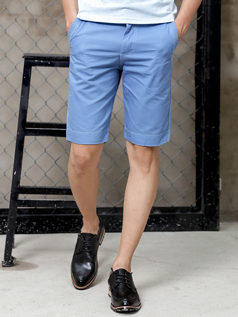Quần short kaki xanh biển qs72 - 1