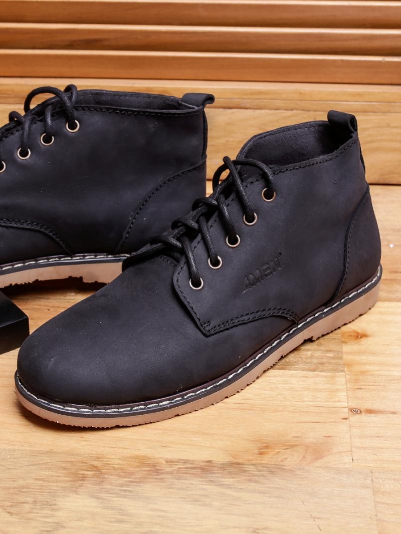 Giày boot cổ lửng đen g91 - 3