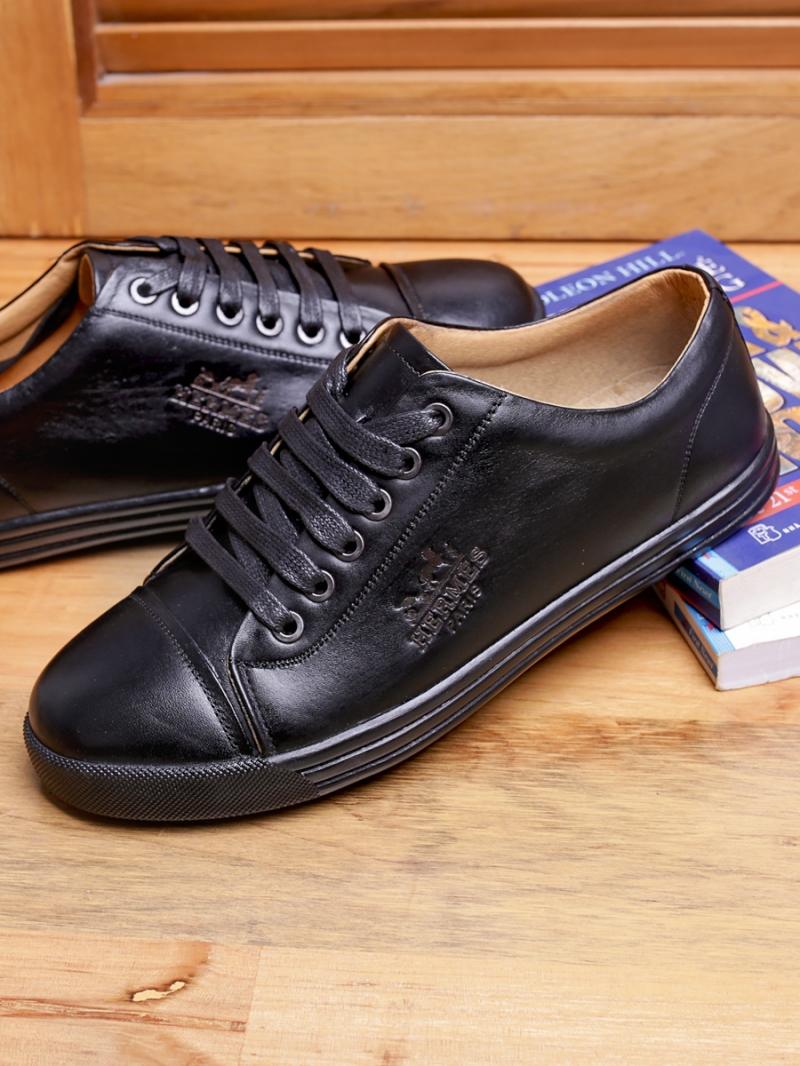 Giày thể thao da đen g92 - 1