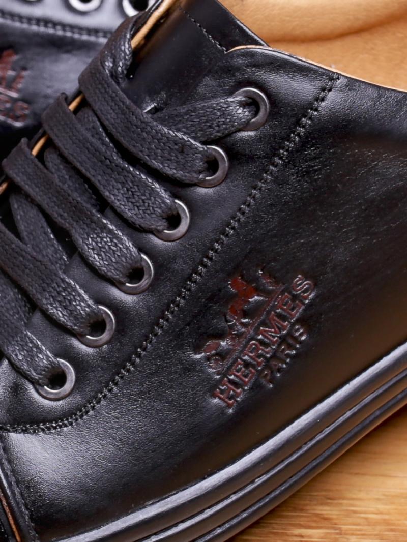 Giày thể thao da đen g92 - 2