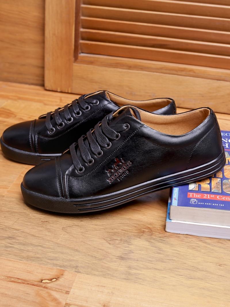 Giày thể thao da đen g92 - 3