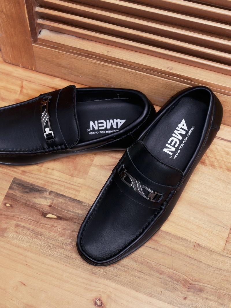 Giày mọi da đen g89 - 2