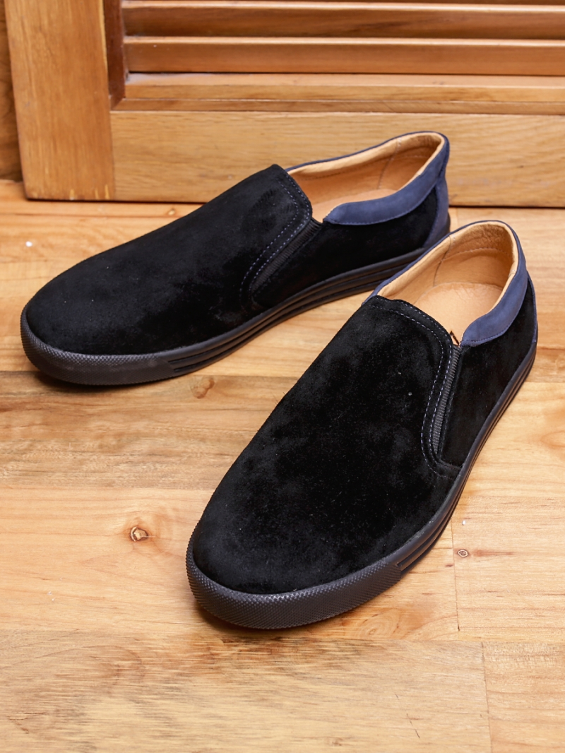Giày mọi da lộn đen g95 - 1