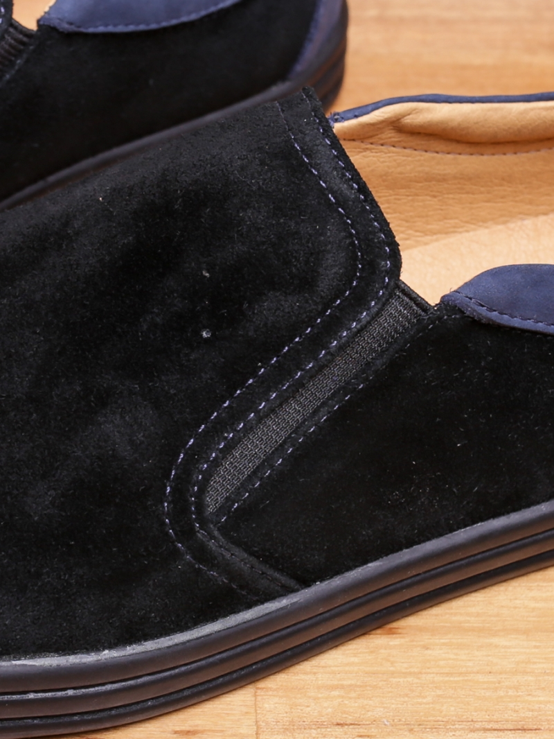 Giày mọi da lộn đen g95 - 2
