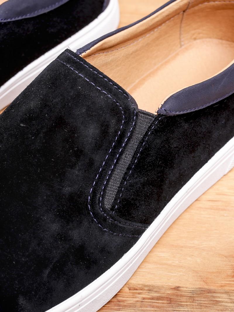 Giày mọi da lộn đen g96 - 3
