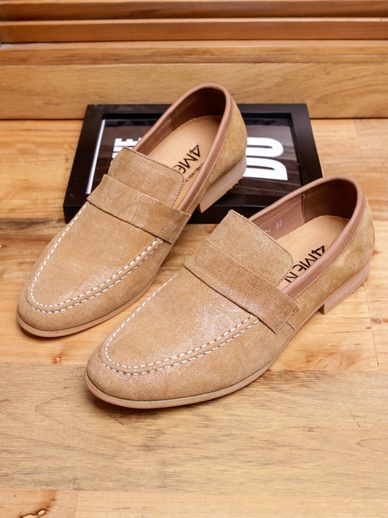 Giày mọi da màu bò g94 - 1