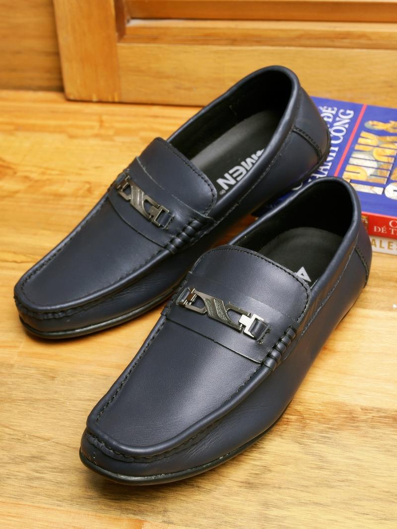 Giày mọi da xanh đen g89 - 1