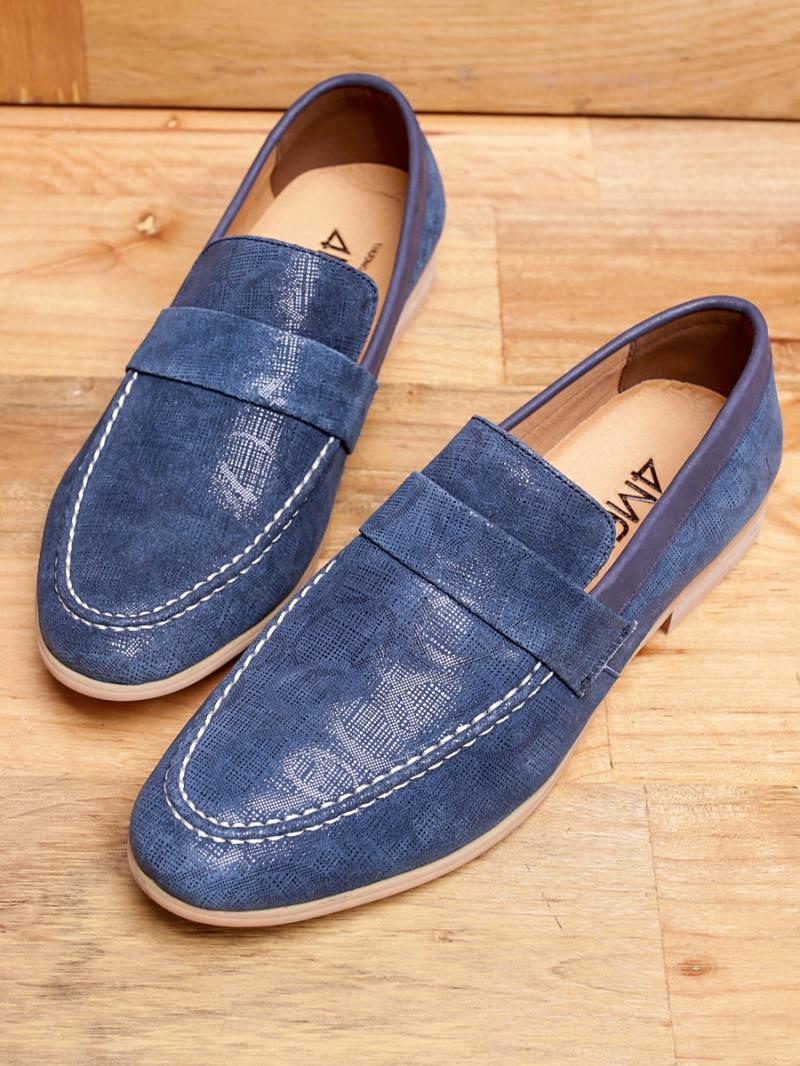 Giày mọi da xanh g94 - 1