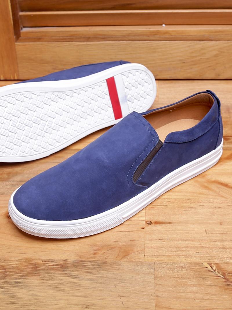 Giày mọi da lộn xanh g96 - 1