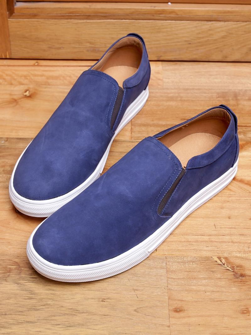 Giày mọi da lộn xanh g96 - 2