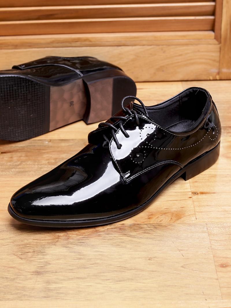 Giày tây da đen bóng g97 - 2