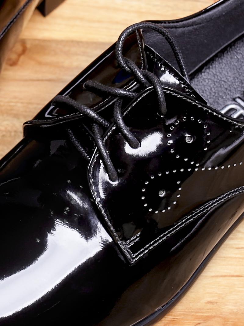 Giày tây da đen bóng g97 - 3