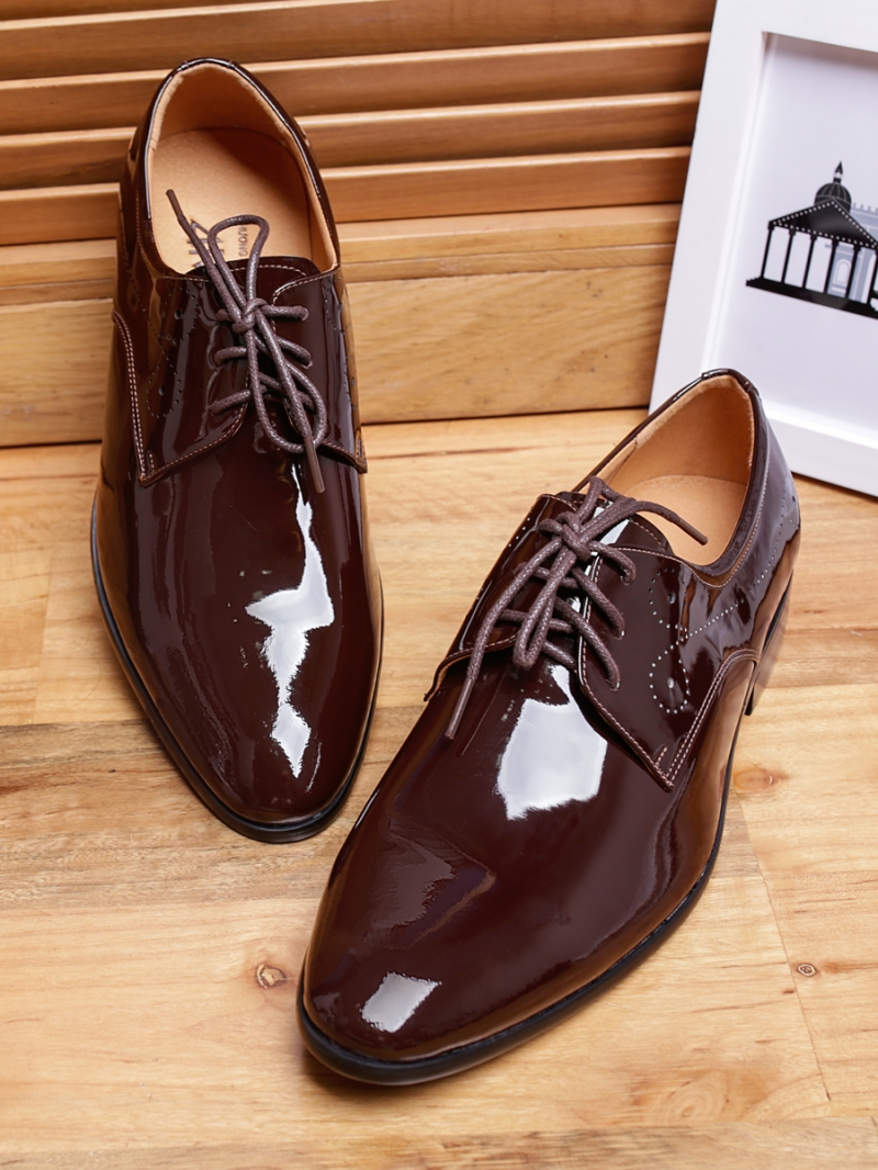 Giày tây da nâu bóng g97 - 1