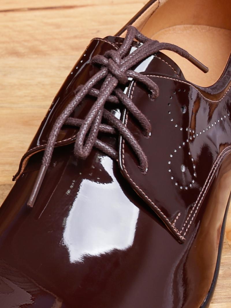 Giày tây da nâu bóng g97 - 2